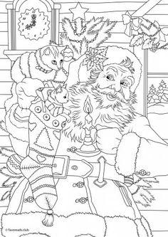 Santa and his Cats