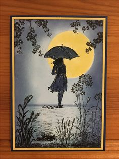 Beautiful You Stampin Up.  I want to use my Tim Holtz umbrella man to do this same design.