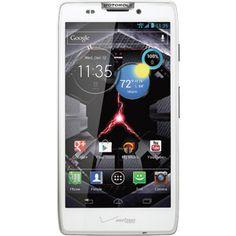 Verizon - DROID RAZR HD (white) by Motorola