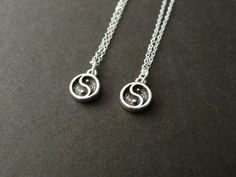Set of 2 Best friend necklace Gift for best friend Yin by NKDNA, $50.00