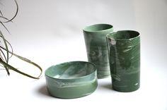 Studio Mud : Marbled ceramics
