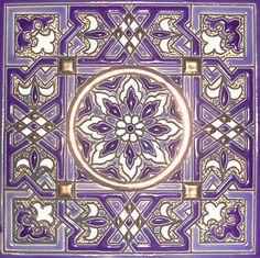 Spanish Decorative Tile Barcelona  Diputació 375 B 1  Mediterranean Tile Color