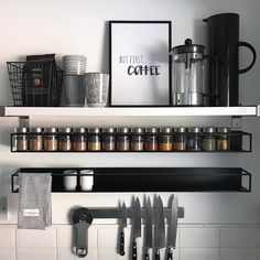 30 best rack design and decor ideas for awesome home storage inspiration 1 Farm Kitchen Ideas, Chef Kitchen Decor, White Kitchen Decor, Country Kitchen, Diy Kitchen, Kitchen Ware, Orange Kitchen, Kitchen Items, Vintage Kitchen