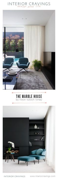 the marble house by nixon tulloch fortey interior design - black and white with turquoise details