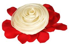 """Ivory Rosette Bridesmaid Pouch Size: 5.5""""D Made from 100% polyester The giving of roses is the perfect romantic gesture ┬û from the heavenly touch of their petals to the beauty and elegance of their form, as if sculpted by angels. Our Ivory Organza Rosette Bridesmaid Pouch fits into a wedding with grace. Their sophisticated ivory color and elegant design is sure to be the awe of guests, without taking away attention from the beauty of the bride. This charming lightweight and durable…"""