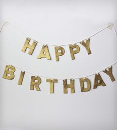 Clay Happy Birthday Party Garland