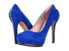 Vince Camuto Deba Lapis Cobalt Blue Suede Studded High Heel