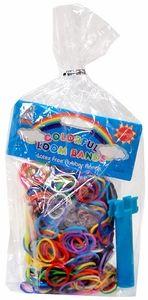 Rainbow Loom Party Favor Goody Bag (Mini Loom Bracelet Maker, 600 Multi-Color Bands & 5 S-Clips)