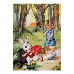 Alice Follows the White Rabbit to Wonderland   A.L. Bowley