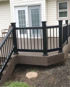 Lowe's Composite Deck by Tropics is a beautiful low-maintenance product that is easy to install. See our beautiful new tropics deck and instructions how to install yours! Garden Stairs, Deck Stairs, Outdoor Deck Decorating, Outdoor Decor, Outdoor Living, Low Deck Designs, Deck Repair, Deck Colors, Deck Builders
