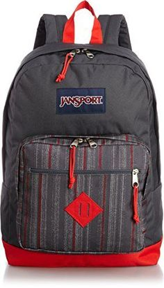 JanSport City Scout Backpack RED TAPE GRUNGE STRIPE >>> Check this awesome product by going to the link at the image.