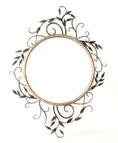 Wrought Iron, Pedestal, Frame, Glass, Mirrors, Jewelry, Design, Home Decor, Rustic Modern