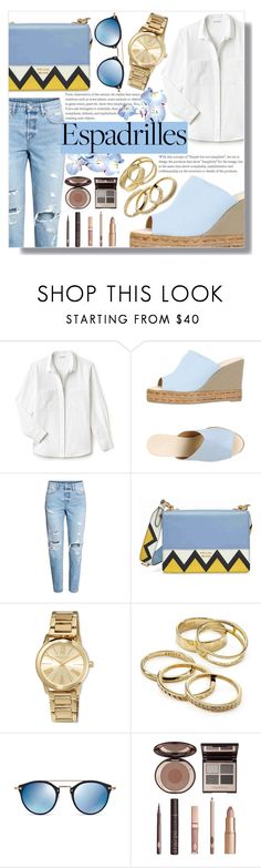 """""""Step into Summer: Espadrilles (2)"""" by sc-styles ❤ liked on Polyvore featuring Lacoste, Castañer, H&M, Prada, MICHAEL Michael Kors, Kendra Scott, Oliver Peoples and Charlotte Tilbury"""