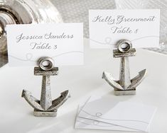 """""""NAUTICAL"""" ANCHOR PLACE CARD/PHOTO HOLDER"""