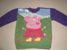 No pattern need to work one out Baby Afghan Crochet Patterns, Beginner Knitting Patterns, Jumper Knitting Pattern, Intarsia Patterns, Jumper Patterns, Knitting Charts, Knitting For Kids, Baby Patterns, Knit Patterns