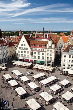 Estonia Travel Inspiration - The Old Town Summer Market, Tallinn, Estonia