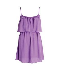 A simple and pretty purple dress that's fit for both summer and spring. It's great and beautiful whether you want to beat the summer chill or spring weather Frilly Dresses, Cute Dresses, Dresses With Sleeves, Summer Dresses, Purple Cocktail Dress, Purple Dress Casual, Purple Sundress, Lilac Dress, Cocktail Dresses