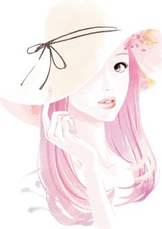 Thank you for all your inspiration. There are no pin limits on my boards. Welcome! Pretty Art, Pretty In Pink, Image Hd, Illustrations, Cute Illustration, Girl Humor, Cute Cartoon, Art Girl, Art Drawings