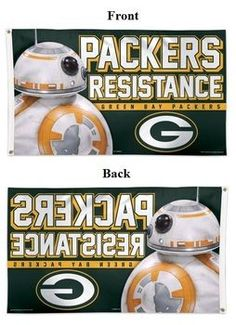 Green Bay Packers Flag Star Wars Resistance BB-8 3x5 NFL