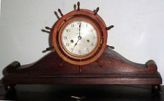 Antique Brass Waterbury Naves rueda Jeweled Naves reloj W / Alzado Soporte N / r…