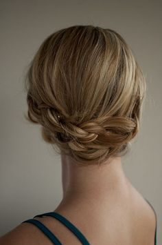 Day 6 of the Hair Romance hairstyle challenge - Romantic low braided upstyle