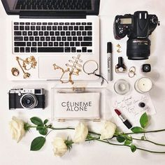 #flatlay #white #rose