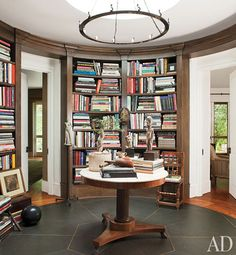 Ellen DeGeneres and Portia de Rossi...A library rotunda? How cool is that?