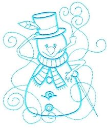 Enchanted Snowman 7 - 3 Sizes! | Winter | Machine Embroidery Designs | SWAKembroidery.com Sealed With A Stitch