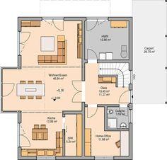 Kern-Haus Familienhaus Luce Grundriss Erdgeschoss