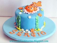 Tarta Fondant Cumpleaños Buscando a Nemo