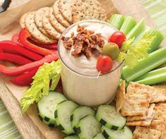 Bloody Mary Dip Recipe │Everything you love about a classic bloody Mary made into a dip! From veggies to crackers – this dip pairs perfectly with your favorite crunchy snack. Beer Recipes, Dip Recipes, Appetizer Recipes, Appetizer Ideas, Recipies, Appetizers, Boat Snacks, Tastefully Simple Recipes, Bloody Mary Recipes
