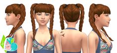 Playful Braids - Summer Pigtails Collection (Part 02) - The pigtails are available for children - elder females. This hair is not, properly, hat compatible. This is because I have some (hat)...
