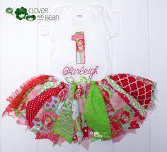 Strawberry Shortcake Tutu  Strawberry by cloverandbeantutus