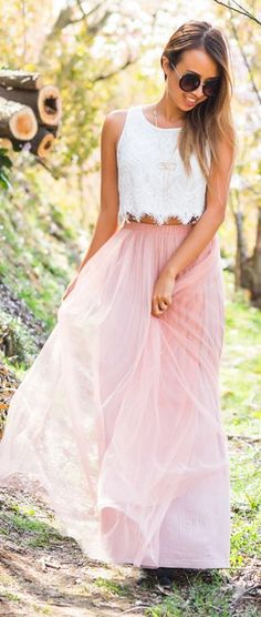 White And Pink Romantic Style
