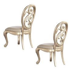 silver finished side chairs | Splat Back Side Chair-Silver Leaf Overviews