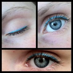 Aqua blue liquid eyeliner from Sephora. Stays on really long and won't smudge. The brush is also good for people who aren't great at applying liquid eyeliner...like me. Haha:) this was my first time.