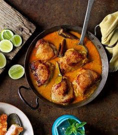 Week 11: Malaysian - Nasi kandar with chicken and roasted okra