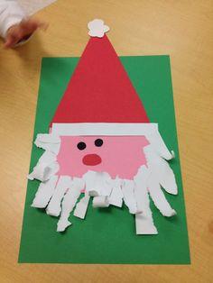 Santa with torn paper beard