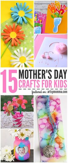 Homemade pretty Mother's Day Crafts for Kids to Make. Make Mom's heart melt this Mother's Day with these thoughtful gifts! Mothers Day Crafts For Kids, Fathers Day Crafts, Crafts For Kids To Make, Projects For Kids, Art For Kids, Children Crafts, Kid Art, Diy Mother's Day Crafts, Mother's Day Diy