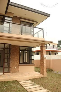 Real Estate Davao Two Naomi House Model Two Story House Design, 2 Storey House Design, Modern House Design, Modern Zen House, Two Storey House Plans, Porch House Plans, Davao, Modern Filipino House, Philippines House Design