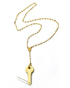 The Rosary Pendant Necklace. Its rough out here lol. I little cute and fashionably concealed weapon