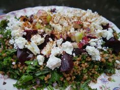 Roasted Beet, McIntosh Apple and Wheatberry Salad with Feta Cheese ...