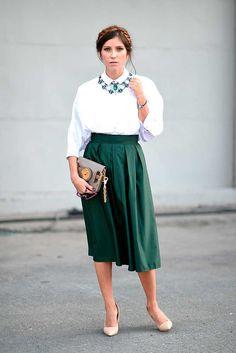Istanbul street style | Rana Demir wears a top from Arzu Kaprol, Moda In Love skirt and a Balenciaga bag