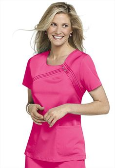 Cherokee Luxe Collection scoop neck scrub top.