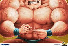 Komatsu: Strongman #printads #advertisingposters #advertisement #minimalads #printadvertising #motivationalads