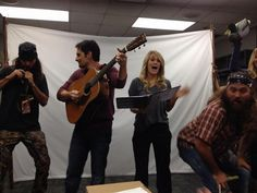 """""""Ha! RT @Wild About Music: This may be the most fun moment of #CMAawards rehearsals@DuckDynastyAE"""" --Brad Paisley 2013 CMA Awards"""