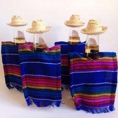 Serape cozie Serape fabric Mexican party favors by MexiBrandCo