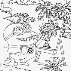 Minions Cool Activities For A Coloring Pages 111 Minion Sheets Bob Games Free Printable