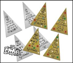 Maori Printables: Christmas Triangle Tags
