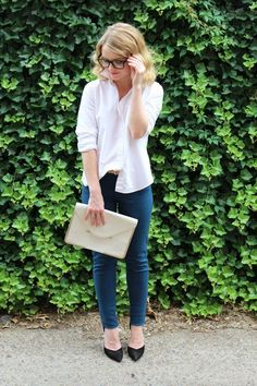 Poor Little It Girl in Madewell Top, Levi's Jeans, Zara Heels - via @poorlilitgirl